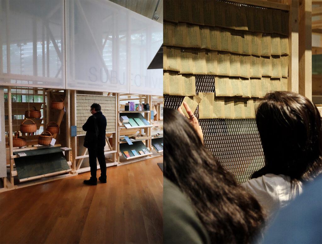Från vår utställningsmonter på Nasjonalmuseet under Oslo arkitekturtriennal